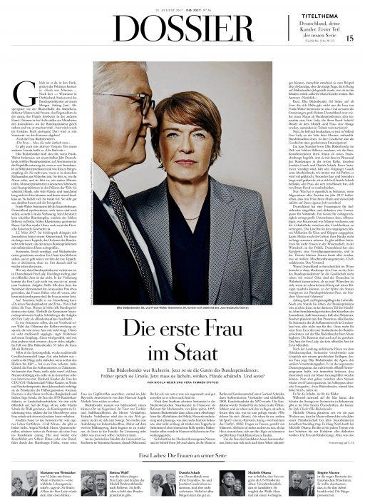 Elke Büdenbender und Frank Walter Steinmeier, DIE ZEIT, 2017
