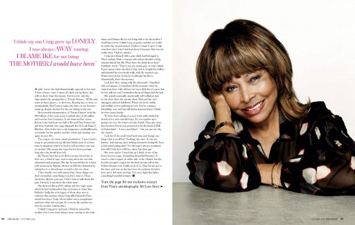 Tina Turner, Daily mail UK, YOU Magazine, 2018